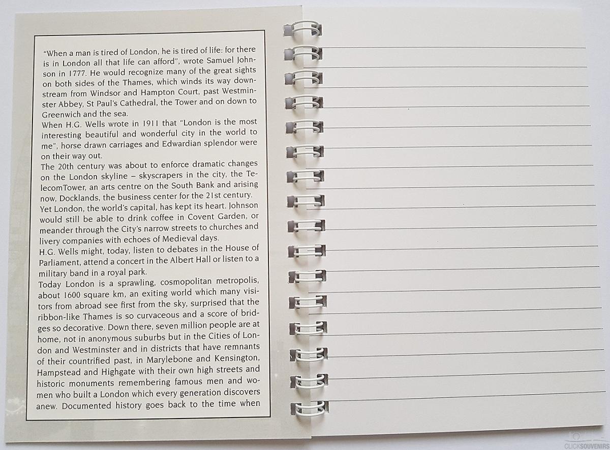 Inside each note book
