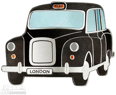 12x Black Taxi Magnets