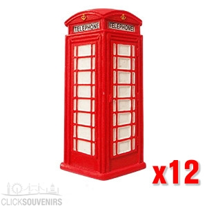 12x London Telephone Box Magnets