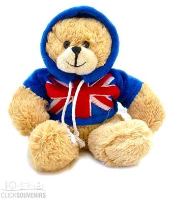 13cm Soft Toy Union Jack Teddy Bear