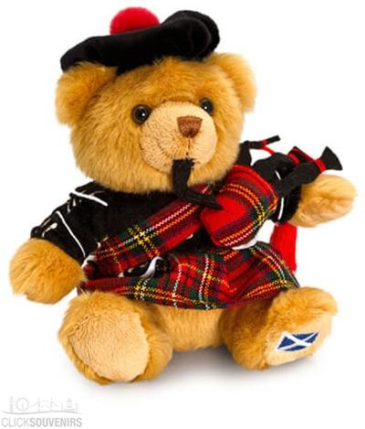 15cm Scottish Piper Teddy Bear