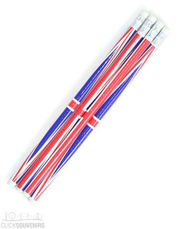 4x Union Jack Pencils