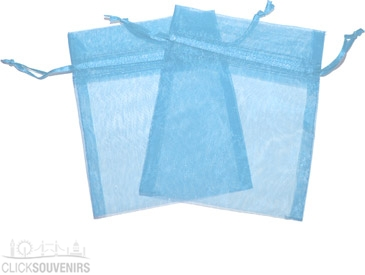 Baby Blue Organza Gift Bag 9 x 7cm