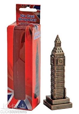 Bronze Die Cast Metal Big Ben Pencil Sharpener