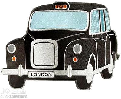 Black London Taxi Foil Stamped Magnet
