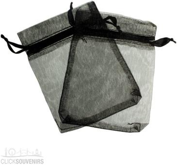 Black Organza Gift Bag 9 x 7cm