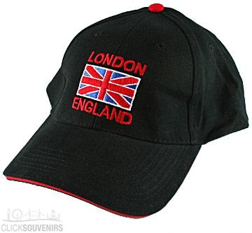 Black London Union Jack Baseball Cap