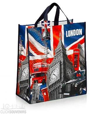 British Capital London Non-Woven Shopping Bag