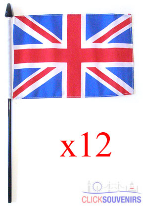 12x Handwaving Union Jack Flags 6 x 9 Bulk Offer