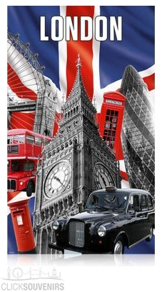 Capital London 100% Cotton Tea Towel