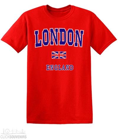 Childrens Red Capital London T-Shirt