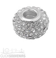 Clear Rhinestone Crystal Bead for Charm Bracelet