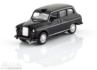 Collectable Diecast Metal Black Taxi Cab Model