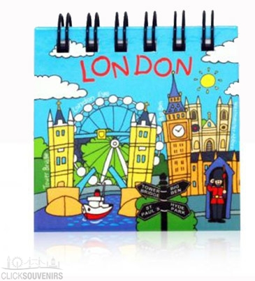 Comical London Magnetic Notepad