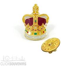 Crown Metal Lapel Pin Badge