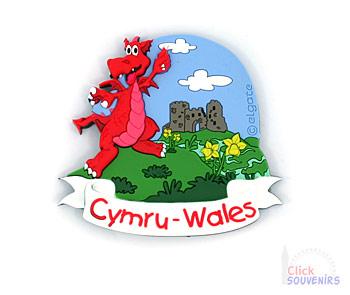 Wales Cymru Welsh Dragon Magnet