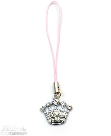 Diamante Crown Phone Charm