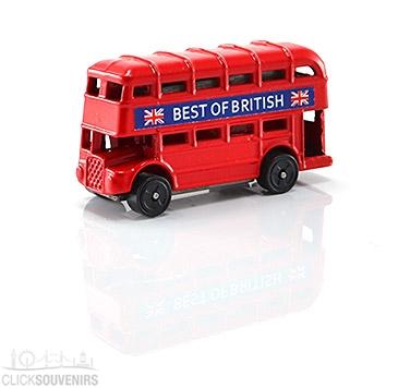 Die Cast Metal Red Double Decker Bus Magnet