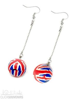 Fimo Union Jack Earrings