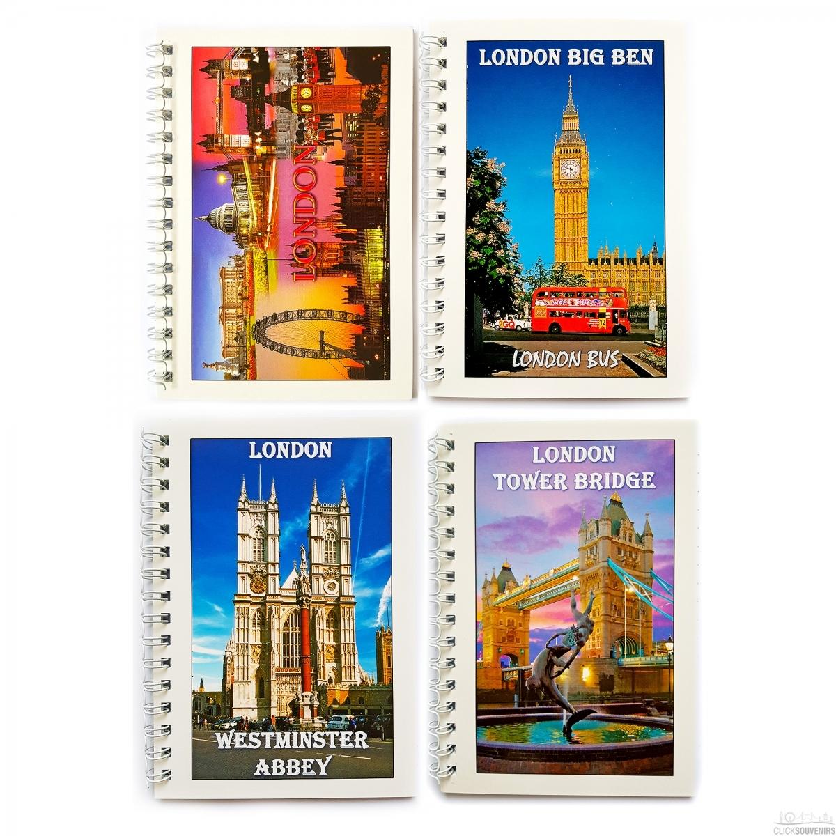 Four London Souvenir Note Books