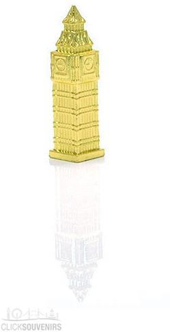 Gilt Gold Diecast Metal Big Ben Magnet