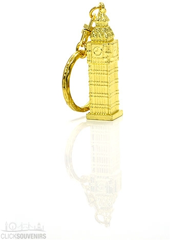 Gold Metal Big Ben Keyring