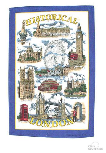 Historical London Tea Towel