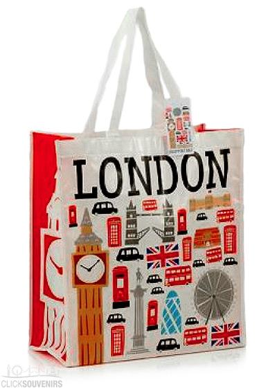 Icons of London Shopping Souvenir Bag