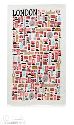 Icons of London Tea Towel