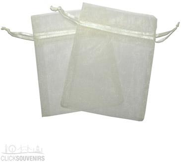 Ivory Organza Gift Bag 9 x 7cm