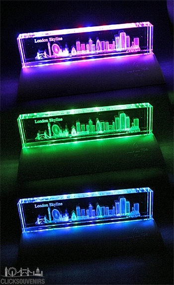 Large London Skyline Paperweight and Light Stand