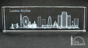 Laser Art Crystal London Skyline Paperweight