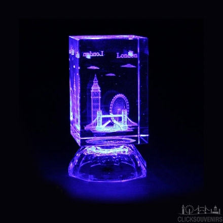 Laser Art Light Up Crystal with Colour Changing Lights