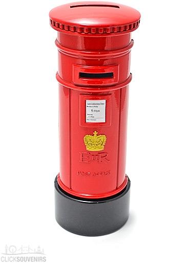 Diecast Metal British Post Box Money Box