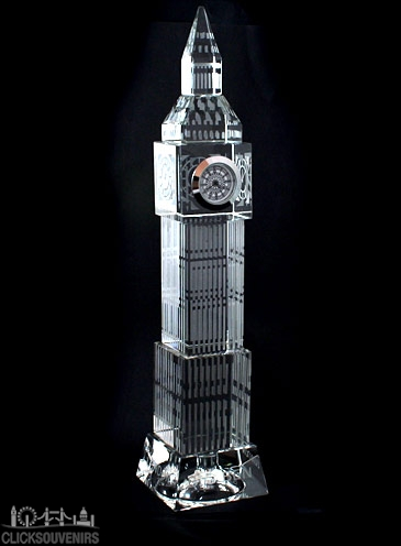 22cm Light Up Crystal Big Ben with Clock