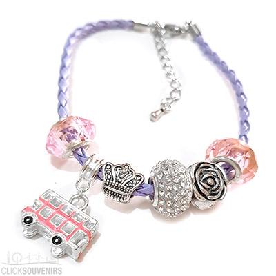 Lilac & Pink London Souvenir Charm Bracelet