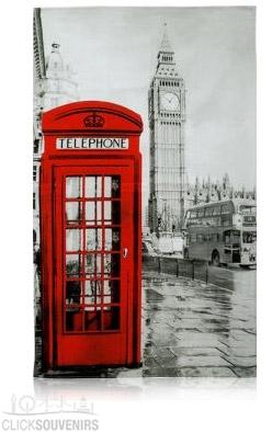 Big Ben and Telephone Box Photographic Tea Towel