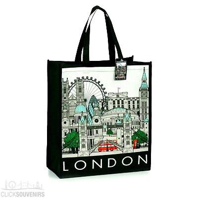 London Cityscape Souvenir Shopping Bag