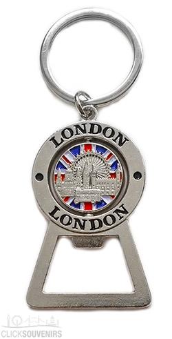 London Collage Bottle Opener Keyring