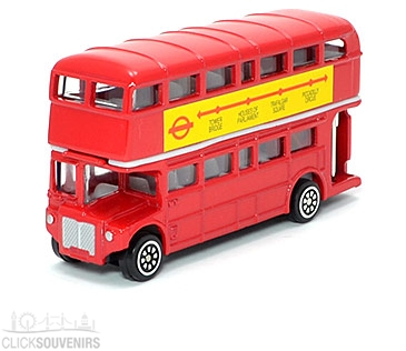Diecast Metal Red Double Decker Bus Model