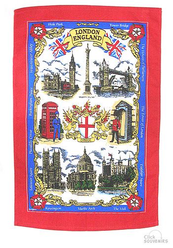 Cotton England London Tea Towel