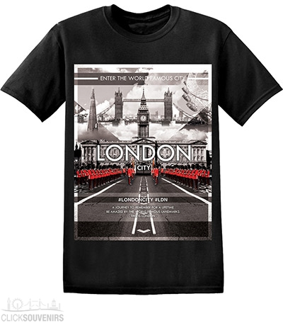 London Guards by Buckingham Palace T Shirt