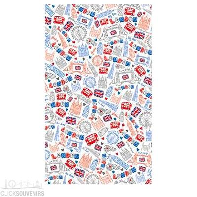 Souvenir London Doodles Tea Towel