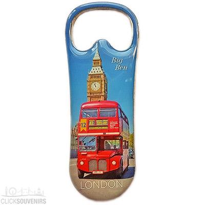 London Souvenir Bottle Opener Magnet