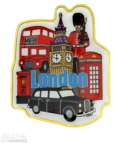 London Souvenir Metal Magnet