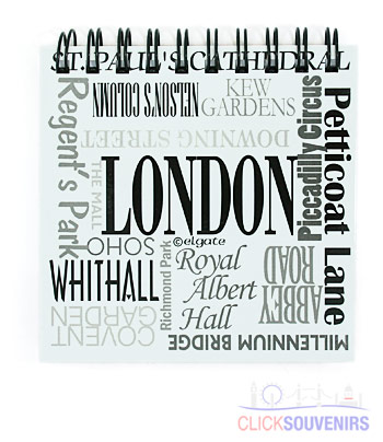 London Place Names 9cm Note Pad
