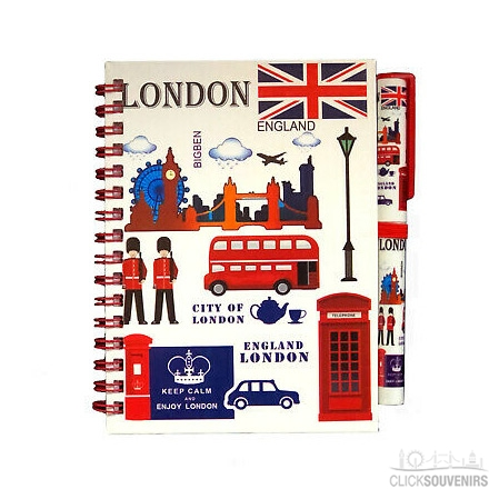 London Notebook and Pen Set
