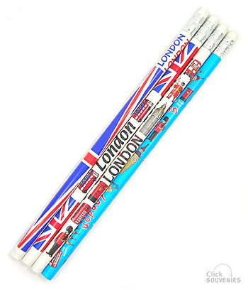 Pack of Four London Pencils