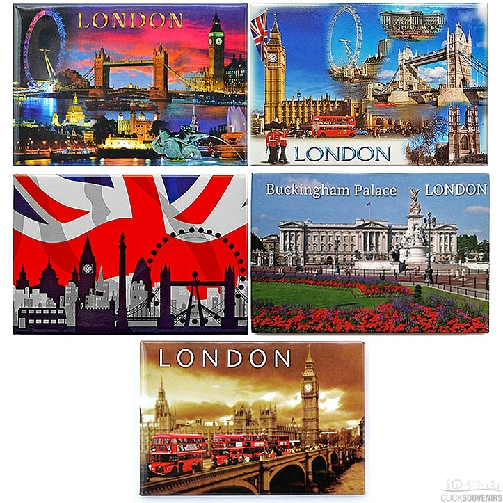 Set of 5 London Picture Magnets