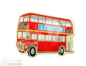 Metal Red Double Decker Bus Magnet